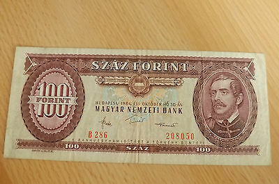 *Ungarn 100 Forint  Banknote 1984 *(ORD2)