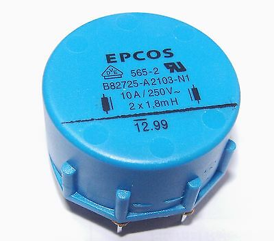 EPCOS  B82725-A2103-N1   common mode choke 2X1.8MH, 10.0A coil inductor  filter