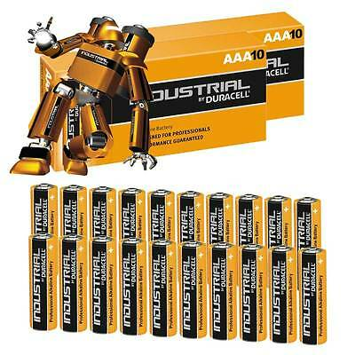 20 x Duracell INDUSTRIAL AAA Alkaline Batteries LR03 MN2400 Replaces Procell AAA