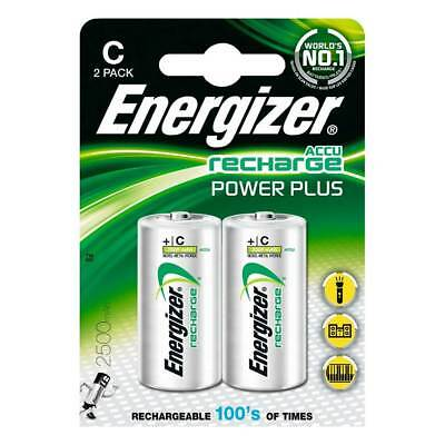 Energizer ACCU Rechargeable C Cell NiMh Batteries (2500mAh) - 2 Pack