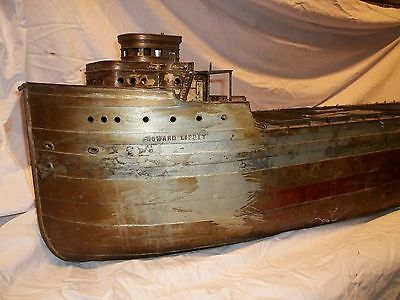 Antique  Metal  Model Ship ~Michigan Ore ~ Maritime Nautical ~ Chicago Lipsey
