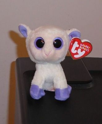 Ty Basket Beanie Baby ~ LILY the Lamb ~ MINT with MINT TAGS