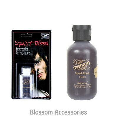 A852 Mehron Dark Red Squirt Fake Blood Special Effect Professional Make Up Scar