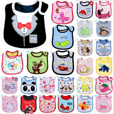 Kids Toddler Waterproof Cartoon Lunch Bibs Baby Infant  Animal Saliva Towel Bib
