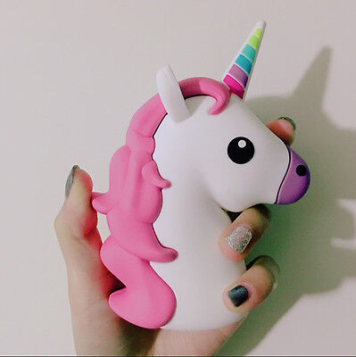 Cartoon Unicorn Shaped Home Travel Portable Charger Power Bank 2600mAh Gift New