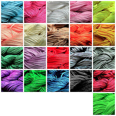 1Roll 27m Nylon Cord Thread Chinese Knot Macrame Rattail Bracelet Braided String