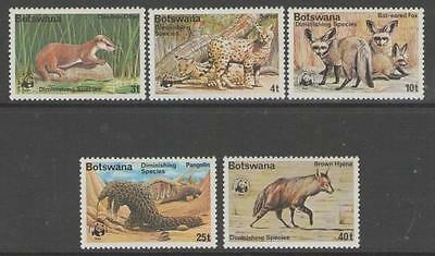 Botswana Sg394/8 1977 Diminishing Species Mnh
