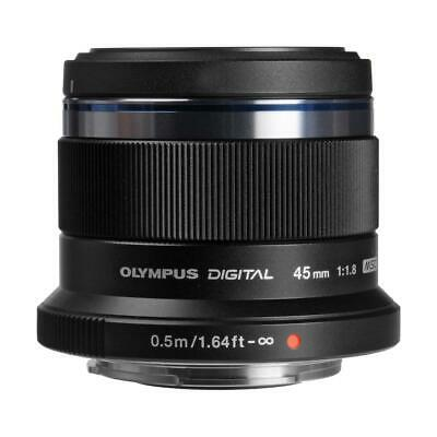 Olympus M. Zuiko Digital 45mm f/1.8 Lens for Micro 4/3, Black #V311030BU000