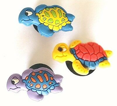 3 Pins Clips Tortues Fit Jibbitz Shoe Charms Pour Crocs Clog