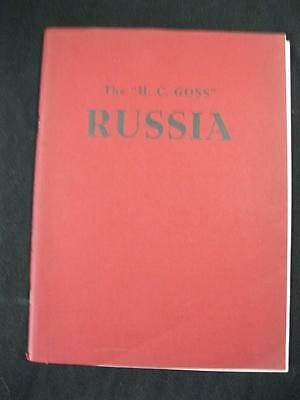 Robson Lowe Auction Catalogue 1958 Russia 'h C Goss' Collection
