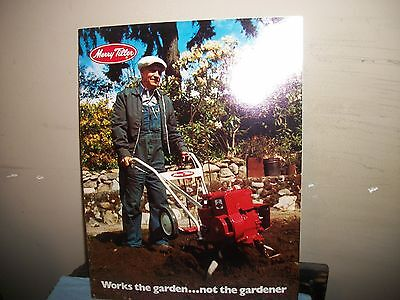 Merry Tiller Full Color Dealer Brochure Good Shape!