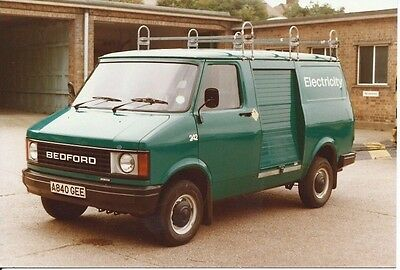 Bedford CF ? Van Electricity Board 1983 Original Photograph x 2