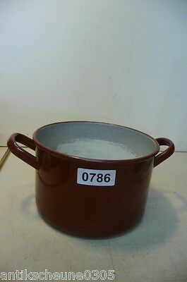0786. Alter Emaille Email Topf Old enamel pot