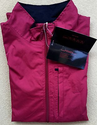 MSRP$40 THE WEATHER CO Full Zip Waterproof Vest Women's Red/Black Size LARGE NWT