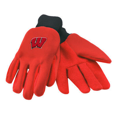 Official Wisconsin Badgers University Licensed NCAA College Utility Work Gloves