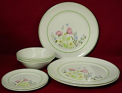 JOHNSON BROTHERS china MEADOW LANE pattern 7 Piece Lot - dinner bread cereal