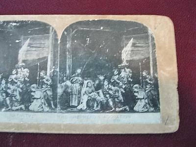 Stereoview Christian Christianity Bible Scene The Nativity Shepherds (O) AS IS