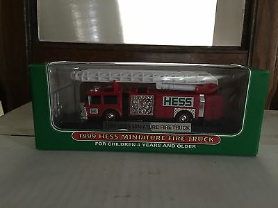 1 1999 Hess Miniature Fire Truck 2Nd In A Series From Just Opened Case