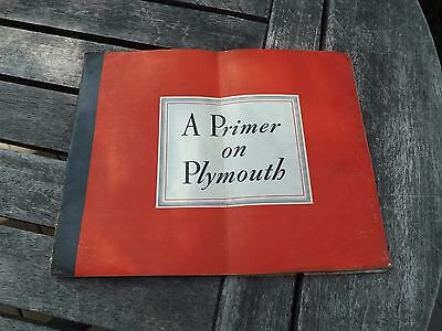 1939 Plymouth Dealer Brochure 22 Pages Poor to Fair Condition Free Ship