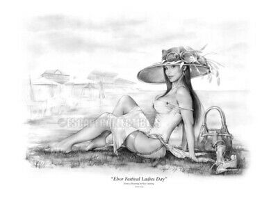 Ebor Festival Yorkshire England Signed # 1/50 Giclee Art Print 17X25 Ray Leaning