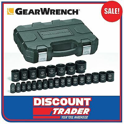 "GearWrench 25 Piece 1/2"" Drive 6 Point Metric Impact Socket Set - 84933N"