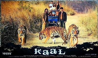 "India Bollywood 2005 Kaal 14""x24"" used lobby cards x 8 Ajay Vivek John"