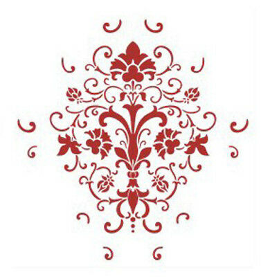 Wall DIY Decor Grain Damask Pattern Painting Reusable Paint Stencil Template