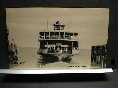 Ferry GOVERNOR CARR Naval Cover Unused Post Card NEWPORT to JAMESTOWN, RI