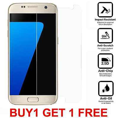 Case Friendly Clear Tempered Glass Screen Protector Cover for Samsung Galaxy S7