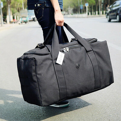80L Large Durable anvas Hand Luggage Travel Backpack Duffle Bag Storage Pack New