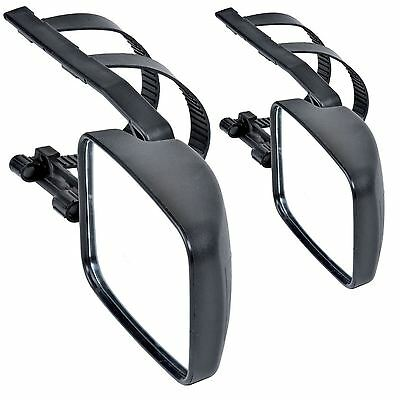 2x MAYPOLE TOWING MIRRORS CAR CARAVAN VAN WING MIRRORS EXTENSION MIRROR DRIVER