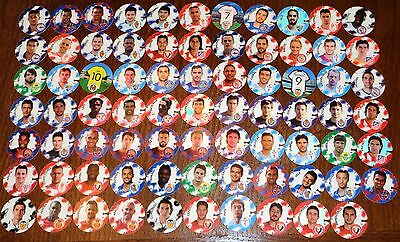 POGS - V-FOOT 76 001 Lot de 76 Pogs FOOT FOOTBALL SOCCER CHEETOS Tous differents