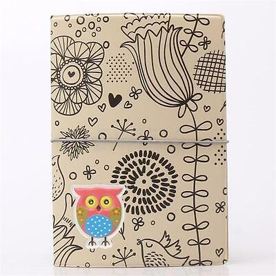 Owl Pattern Travel Passport Holder Cover Case Bag Ticket Card Document Protector