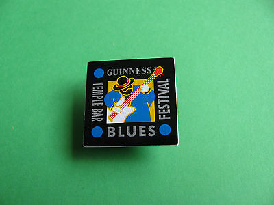 Guinness Pin badge. VGC. Unused. Temple Bar Blues Festival.