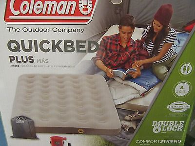 NEW Coleman - QUEEN Mattress blow-up QUICKBED AIRBED WITH FREE 4D PUMP