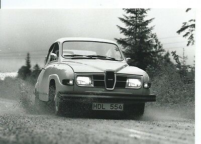 Saab 96 V4 ? in Action on the Road Circa 1967 Photograph Excellent Condition
