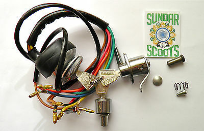 Gp Ac Ignition Switch.steering/tool Box Locks+Common Key+Fittings. For Lambretta