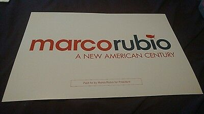 Marco Rubio 2016 Official President Candidate PLACARD RALLY SIGN