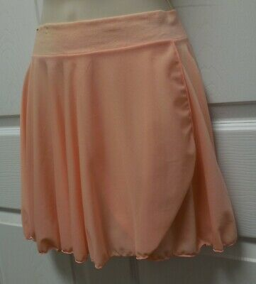 NWT Major Motion Mock Wrap Pull On Skirt Peach Ladies Small Adult Style 1011