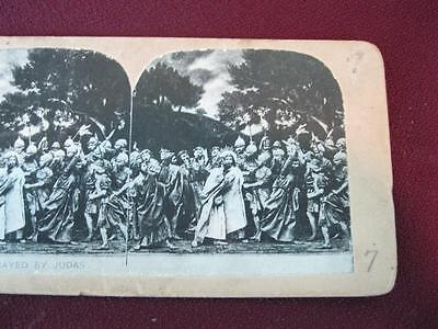 Stereoview Christian Christianity Bible Scene Jesus Betrayed By Judas (O) AS IS