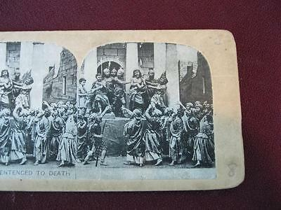 Stereoview Christian Christianity Bible Scene Jesus Sentenced To Death (O) AS IS
