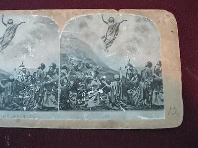 Stereoview Christian Christianity Bible Scene The Ascension Of Jesus (O) AS IS