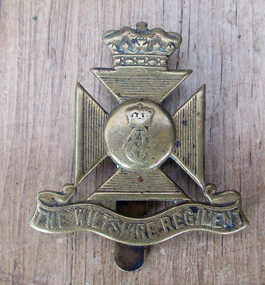 V Early Genuine Cap Badge For The Wiltshire Regiment