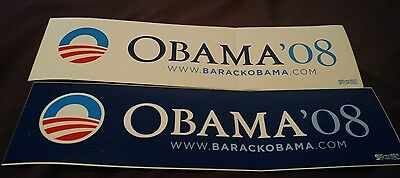 Barack Obama Official 2008 President Campaign Bumper Sticker Lot of 2