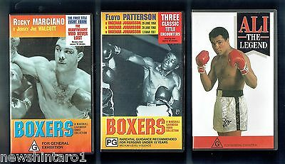 #zz6.  Five(5)  Boxing  Vhs Video Tapes