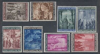 VATICAN 1949 HOLY YEAR (x8) MINT (ID:509/D41326)
