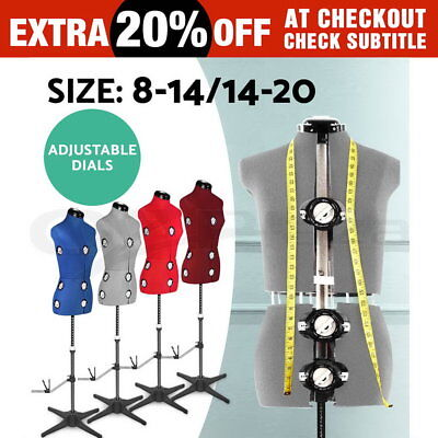 Adjustable Mannequin Size 8-14/14-20 140-180CM Dials Tailors Dressmakers Display