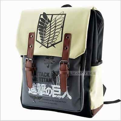 New Anime Attack on Titan Schoolbag  Book Bag Canvas Backpack Rucksack Cosplay