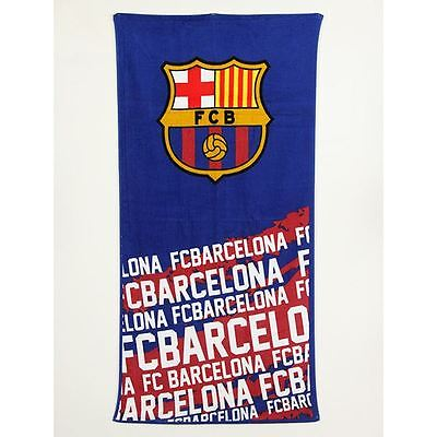 Fc Barcelona Impact Towel Blue And Red Football Towel Kids Official Free P+P
