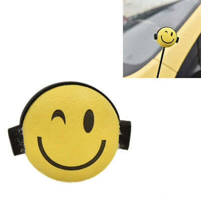 Nice Yellow Smile Happy Face Car Antenna Pen Topper Aerial Ball Decoration Toy